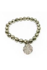 CHAN LUU Pyrite Diamond Charm Bracelet