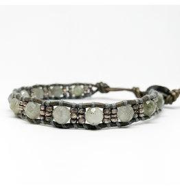 CHAN LUU Labradorite & Sterling Silver Bead Single Bracelet