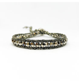 CHAN LUU Single Wrap Sterling Bracelet