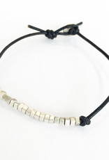 ME & RO Half Square Beads Leather Bracelet