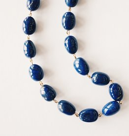 ME & RO 18K Lapis Baroque Chain Necklace