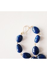 ME & RO 18K Large Lapis Baroque Chain