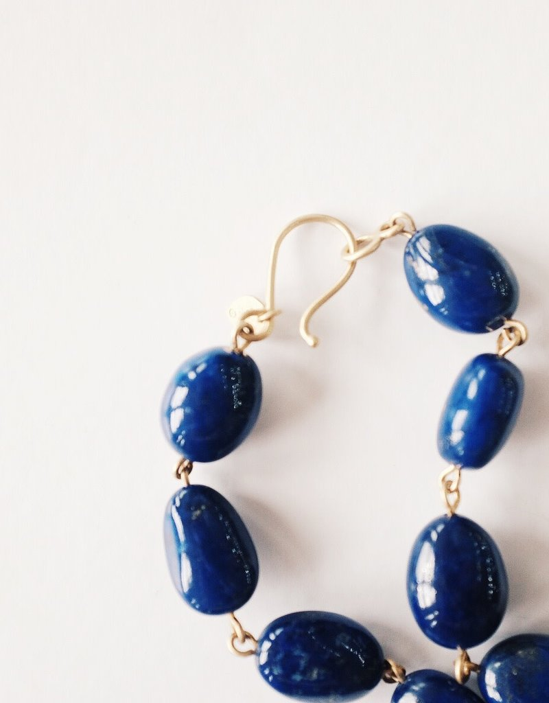 ME & RO 18K Lapis Baroque Chain Necklace