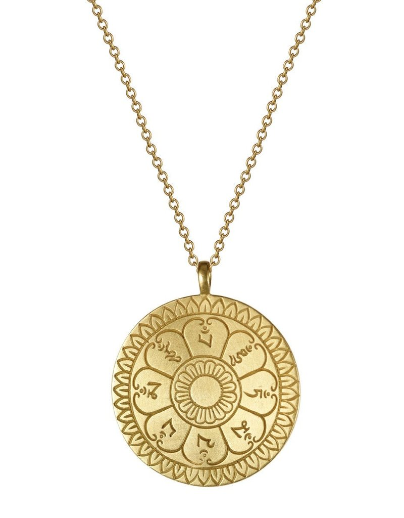 ME & RO 18K Ritual Bell Pendant Necklace
