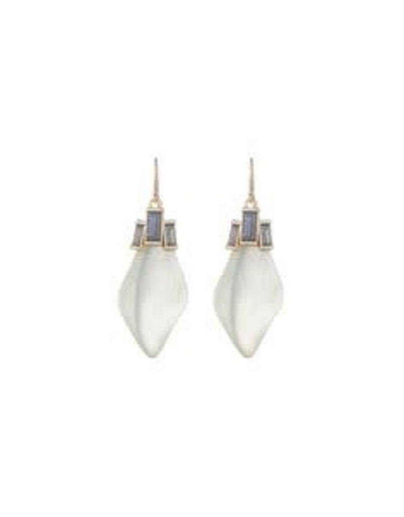 ALEXIS BITTAR Dancing Baguette Drop Earrings - Ivory