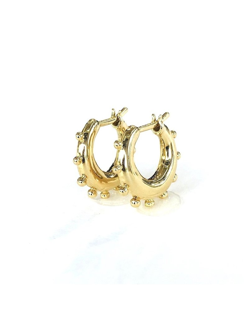 TEMPLE ST CLAIR Small Granulated Huggie Earrings