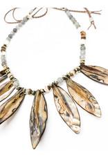 CHAN LUU Mystic Shell Fringe Necklace
