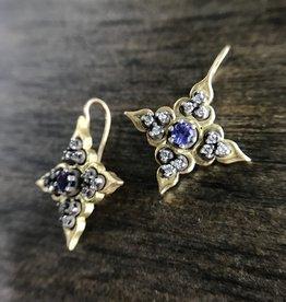 ERICA MOLINARI 18K Tanzanite Star Earrings