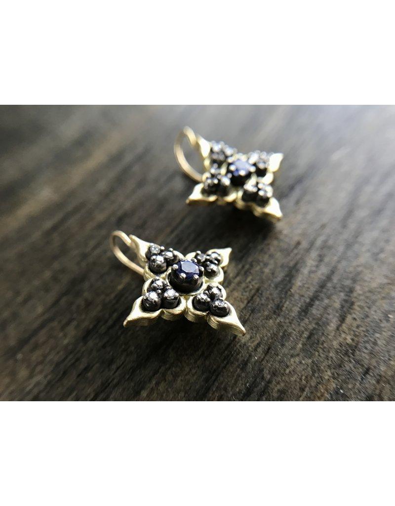 ERICA MOLINARI 18K/SS Tanzanite Dia Star Ear