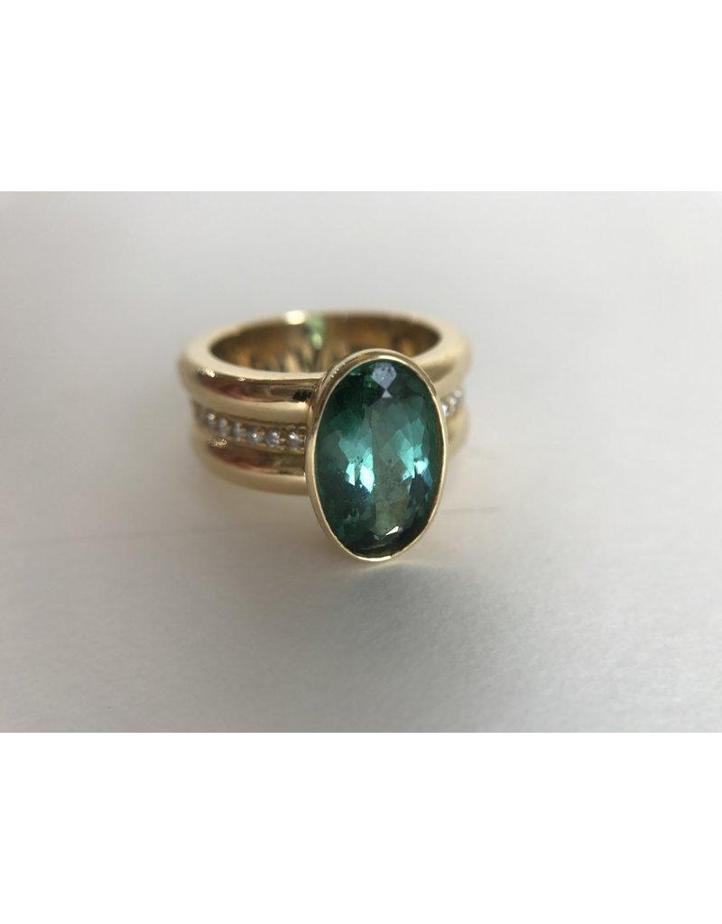 ERICA MOLINARI 18Kt Rare Green Tourmaline Ring