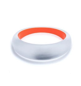 ALEXIS BITTAR Medium Tapered Bangle - Silver/Red