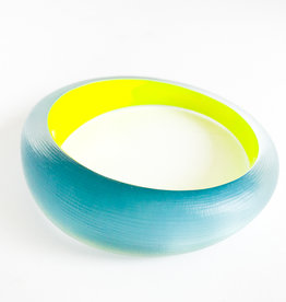 ALEXIS BITTAR Medium Tapered Bangle - Montana Blue/Yellow