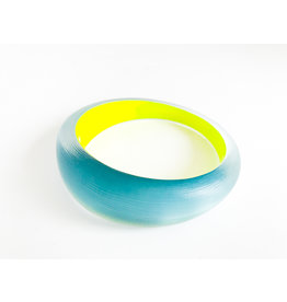 ALEXIS BITTAR Medium Tapered Bangle - Montana Blue/Yellow