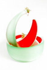 ALEXIS BITTAR Wide Graduated Medium Hoop - Seafoam/Red