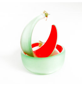 ALEXIS BITTAR Wide Graduated Medium Hoop - Seafoam/Red