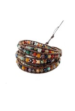 CHAN LUU Semi Precious 5 Wrap Bracelet