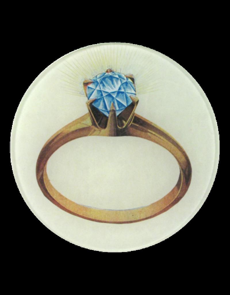 "JOHN DERIAN Diamond Ring 5 3/4"" Round Plate"