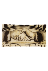 "JOHN DERIAN Handshake 4 x 9"" Rectangle Tray"