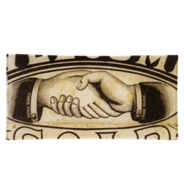 "JOHN DERIAN Handshake 4 x 9"" Rectangle Tray"