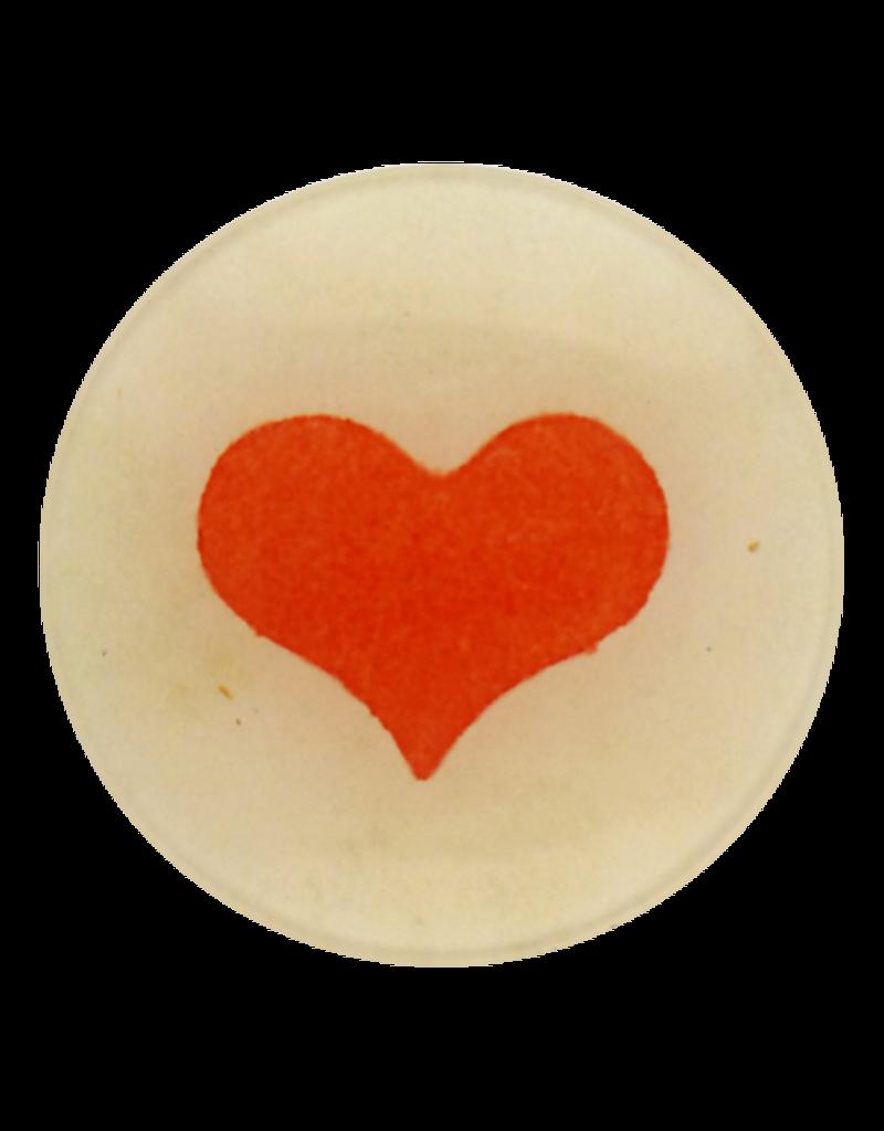 "JOHN DERIAN Wide Heart 4"" Round Plate"