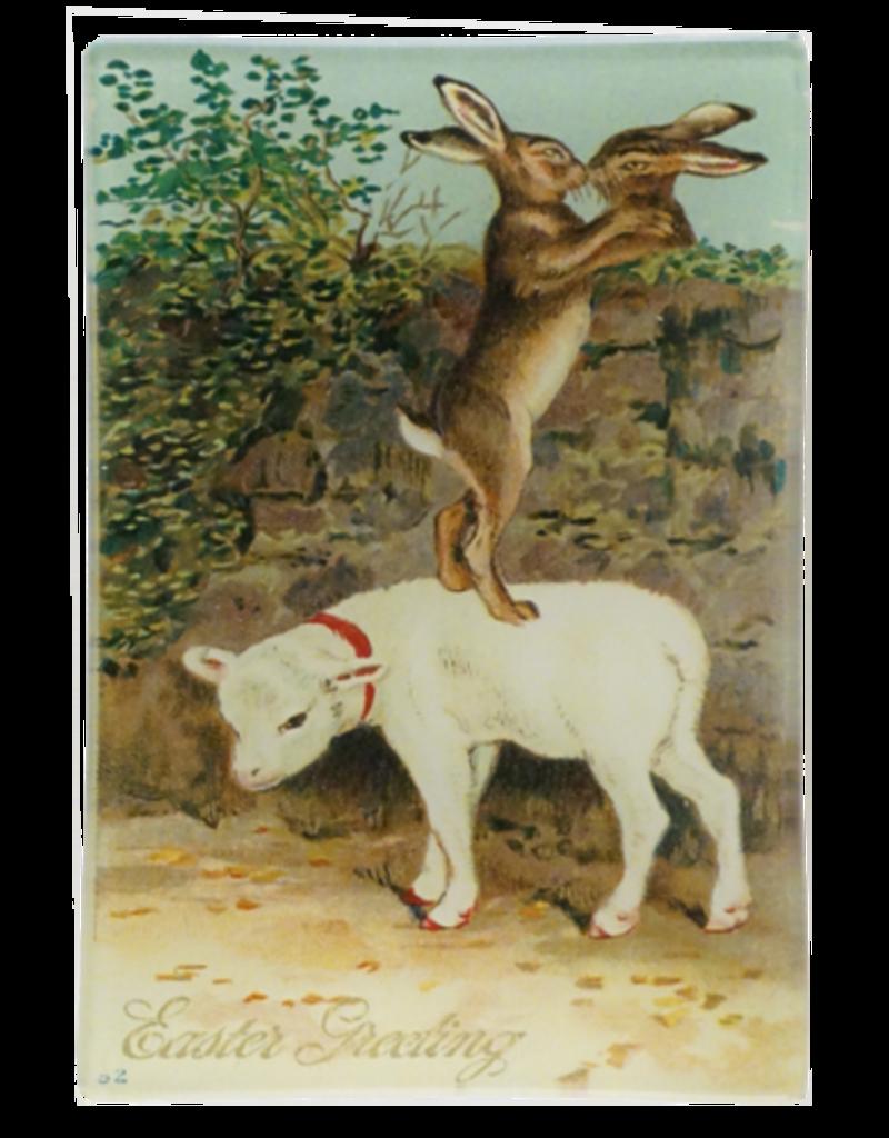JOHN DERIAN Kissing Rabbit Mini Tray