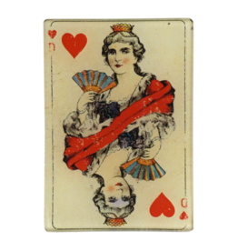 JOHN DERIAN Queen of Hearts Tray