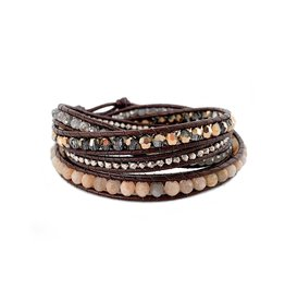 CHAN LUU Sunstone Mix 5 Wrap Bracelet