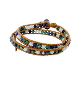 CHAN LUU African Turquoise Mix Double Wrap Bracelet