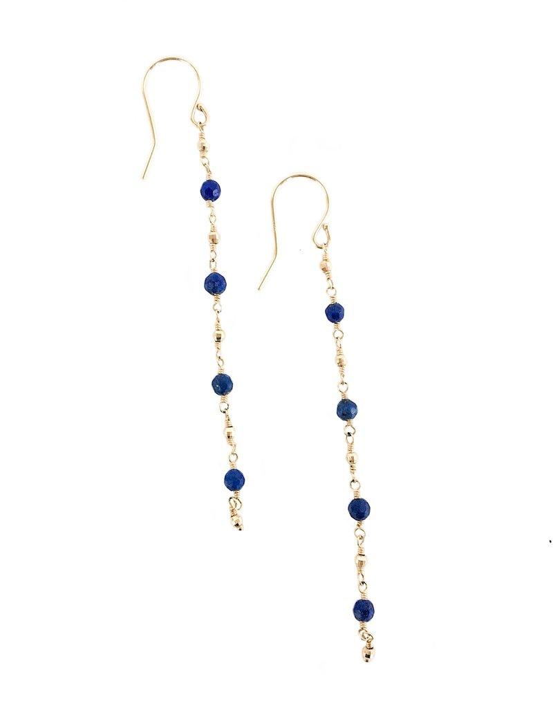 MIZUKI Single Strand Lapis Earring