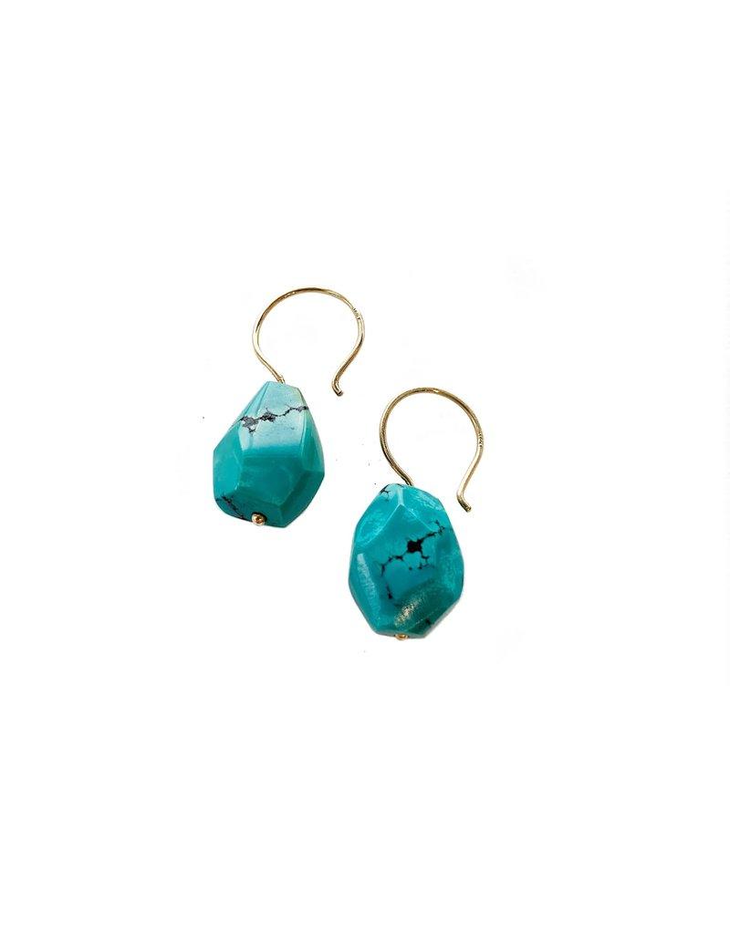 SHANNON JOHNSON Turquoise Drop Earrings