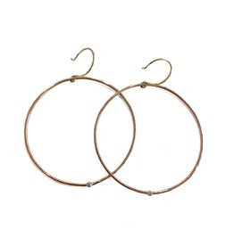 SHANNON JOHNSON Rose Gold Diamond Signature Hoop