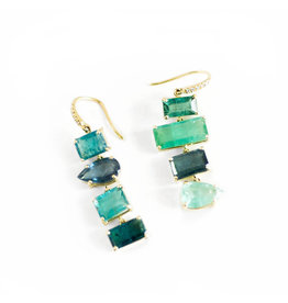 LAUREN K Green Tourmaline Joyce Earrings