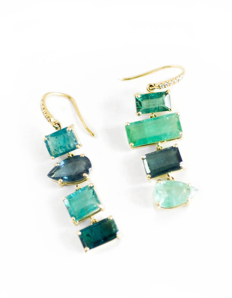 LAUREN K Green Tourmaline Joyce Earrings