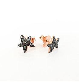 DODO Black Diamond Starfish Earrings