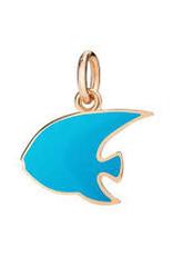 DODO Blue Enamel Angelfish Charm