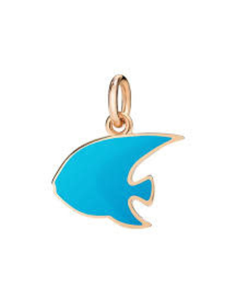 DODO Blue Enamel Angelfish Charm