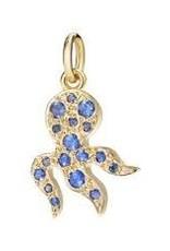 DODO Blue Sapphire Octopus Charm