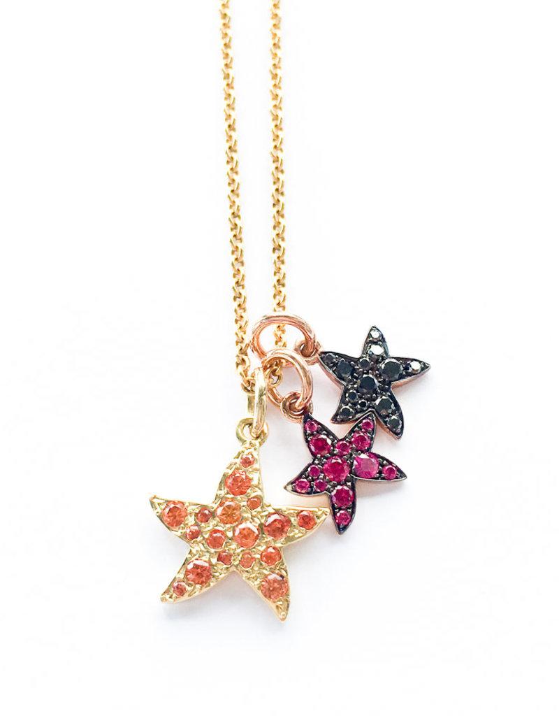 DODO Orange Sapphire Starfish Charm