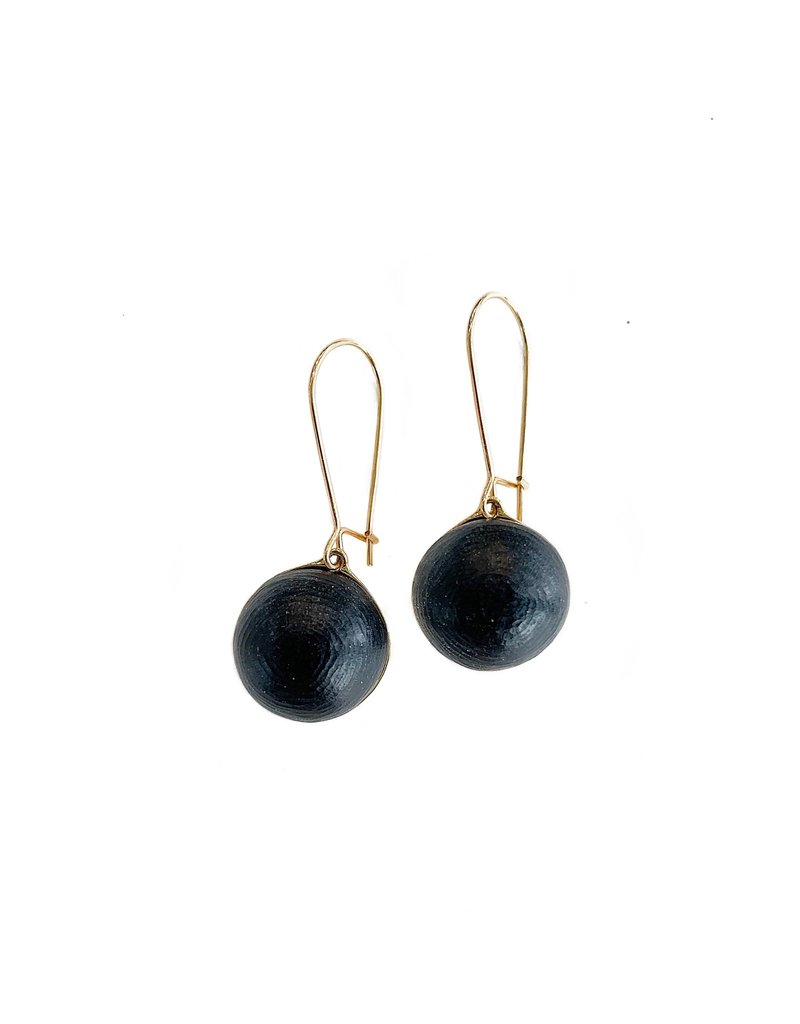 ALEXIS BITTAR Dangling Kidney Wire Earrings - Black