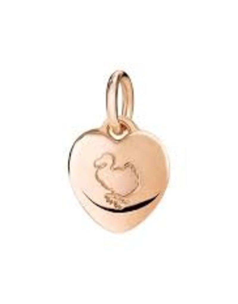 DODO Rose Gold Heart Charm