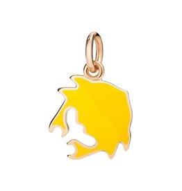 DODO Yellow Enamel Crab Charm