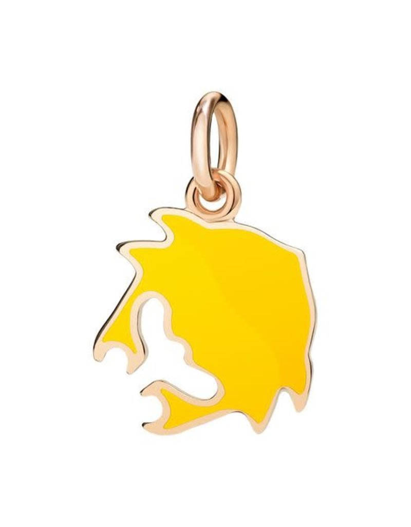 DODO Yellow Enamel Crab Charm
