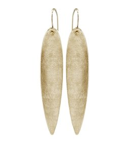 SHAESBY Gold Elongated Drop Earring