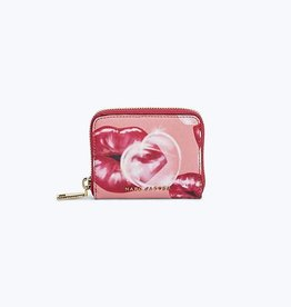 MARC JACOBS Zip Card Case Lips - Tea Rose