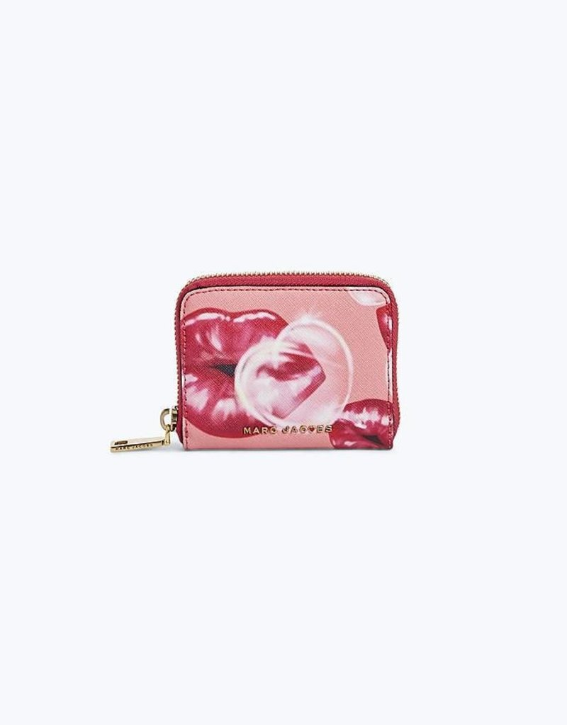 MARC JACOBS Zip Card Case Lips - Tea Rose
