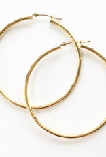 LAUREN FINE JEWELRY 40mm Thin Tube Hoop Earrings