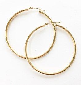 LAUREN FINE JEWELRY 40mm Thin Tube Hoop Earrings