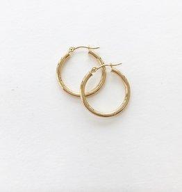 LAUREN FINE JEWELRY 20mm Thin Tube Hoop Earrings