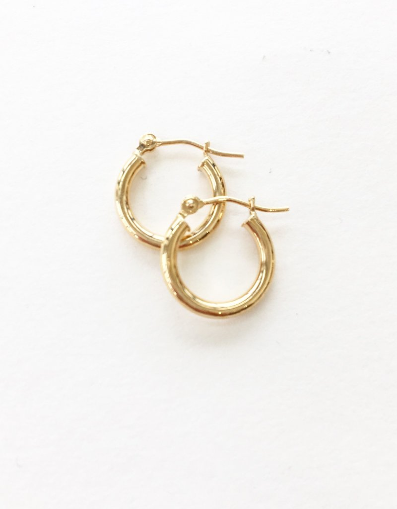 LAUREN FINE JEWELRY 13mm Thin Tube Hoop Earrings