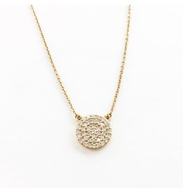 LAUREN FINE JEWELRY Round Diamond Cluster Necklace